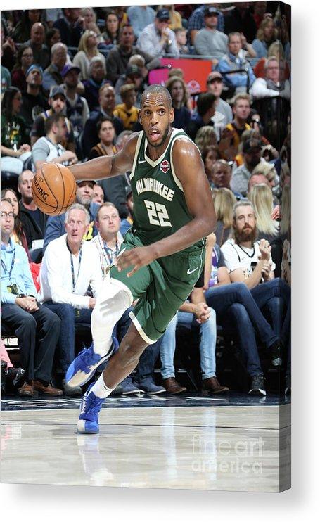 Nba Pro Basketball Acrylic Print featuring the photograph Khris Middleton by Melissa Majchrzak