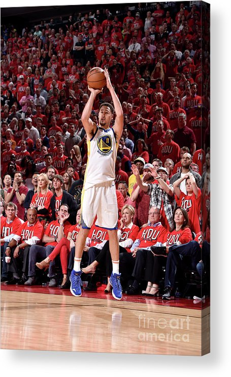 Playoffs Acrylic Print featuring the photograph Klay Thompson by Bill Baptist