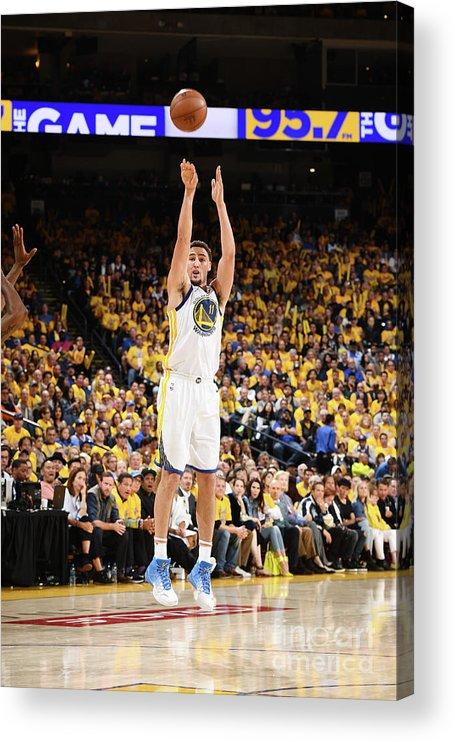 Playoffs Acrylic Print featuring the photograph Klay Thompson by Garrett Ellwood