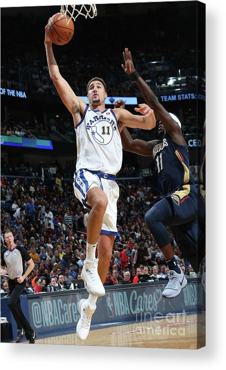 Smoothie King Center Acrylic Print featuring the photograph Klay Thompson by Layne Murdoch