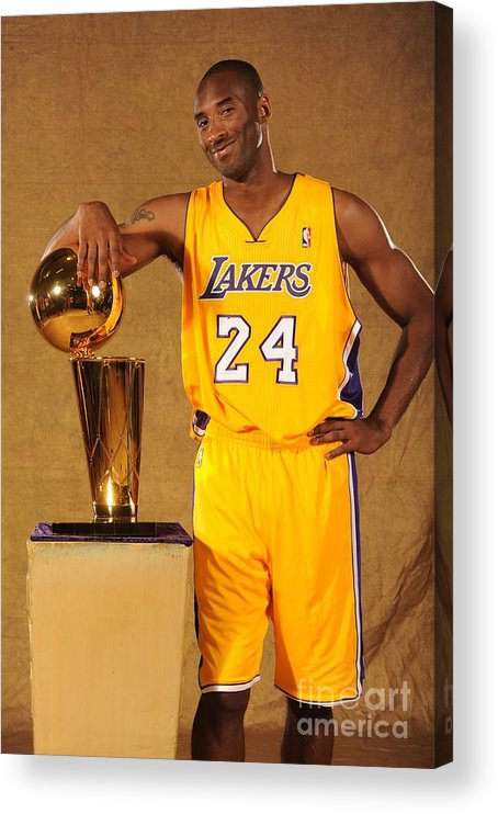 Media Day Acrylic Print featuring the photograph Kobe Bryant by Andrew D. Bernstein