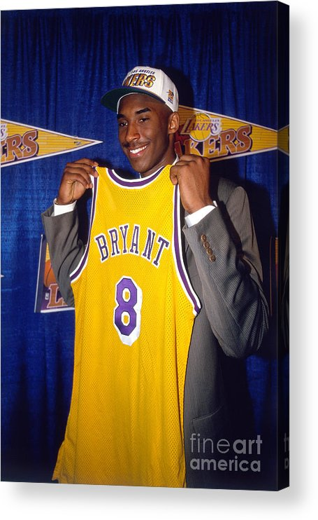 Nba Pro Basketball Acrylic Print featuring the photograph Kobe Bryant by Juan Ocampo