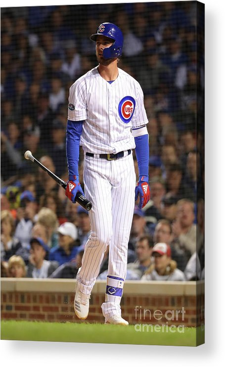 Playoffs Acrylic Print featuring the photograph Kris Bryant by Alex Trautwig