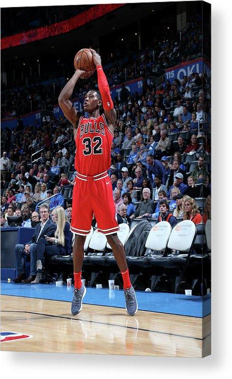 Chicago Bulls Acrylic Print featuring the photograph Kris Dunn by Layne Murdoch