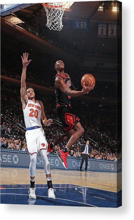 Chicago Bulls Acrylic Print featuring the photograph Kris Dunn by Nathaniel S. Butler