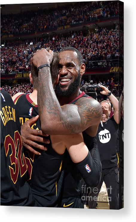 Playoffs Acrylic Print featuring the photograph Kyle Korver and Lebron James by David Liam Kyle