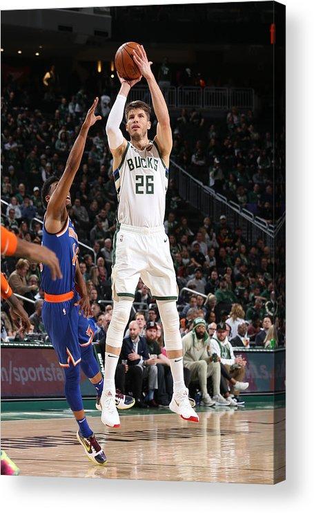 Nba Pro Basketball Acrylic Print featuring the photograph Kyle Korver by Gary Dineen
