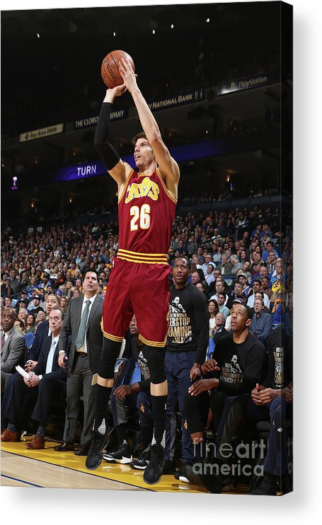 Nba Pro Basketball Acrylic Print featuring the photograph Kyle Korver by Nathaniel S. Butler