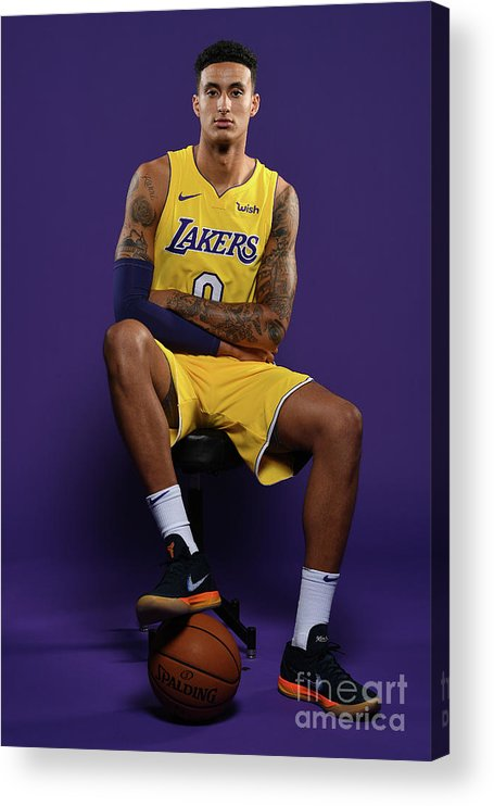 Media Day Acrylic Print featuring the photograph Kyle Kuzma by Aaron Poole