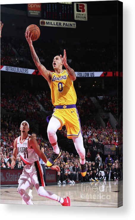 Nba Pro Basketball Acrylic Print featuring the photograph Kyle Kuzma by Sam Forencich