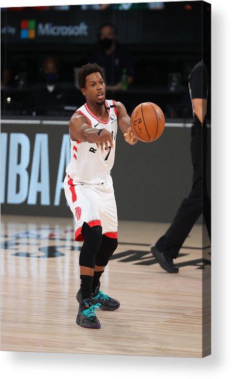 Nba Pro Basketball Acrylic Print featuring the photograph Kyle Lowry by David Sherman