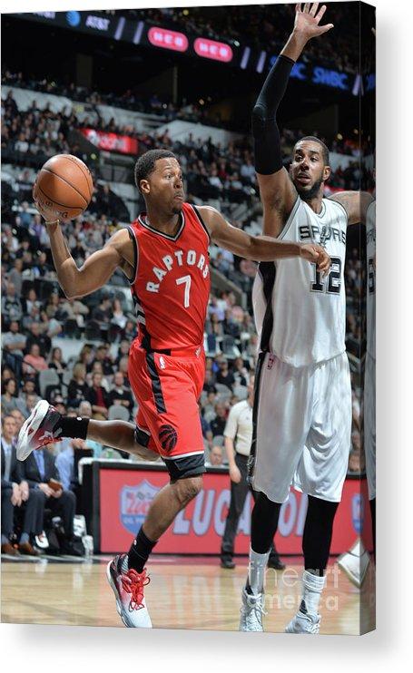 Nba Pro Basketball Acrylic Print featuring the photograph Kyle Lowry by Mark Sobhani