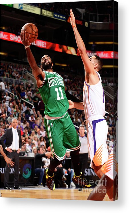 Nba Pro Basketball Acrylic Print featuring the photograph Kyrie Irving by Barry Gossage
