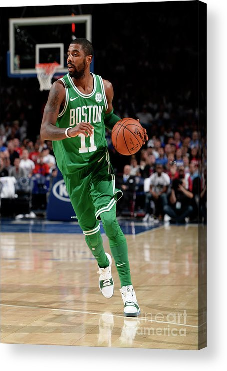 Nba Pro Basketball Acrylic Print featuring the photograph Kyrie Irving by David Dow