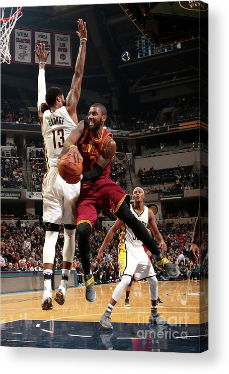 Nba Pro Basketball Acrylic Print featuring the photograph Kyrie Irving by Ron Hoskins