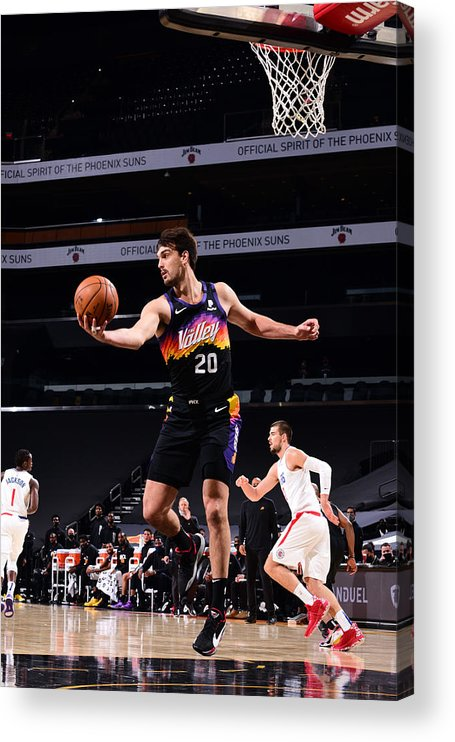Nba Pro Basketball Acrylic Print featuring the photograph LA Clippers v Phoenix Suns by Michael Gonzales