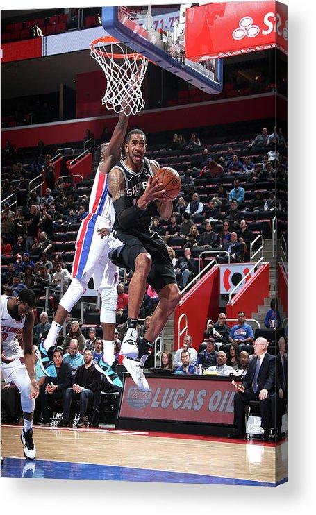 Nba Pro Basketball Acrylic Print featuring the photograph Lamarcus Aldridge by Brian Sevald