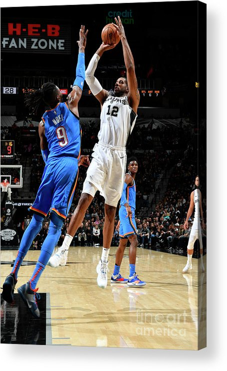 Nba Pro Basketball Acrylic Print featuring the photograph Lamarcus Aldridge by Logan Riely