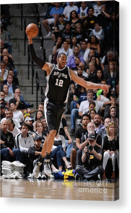 Sports Ball Acrylic Print featuring the photograph Lamarcus Aldridge by Mark Sobhani