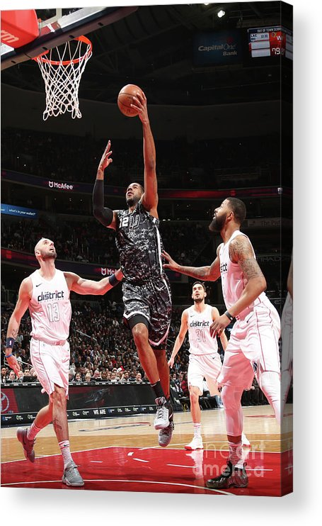Nba Pro Basketball Acrylic Print featuring the photograph Lamarcus Aldridge by Ned Dishman