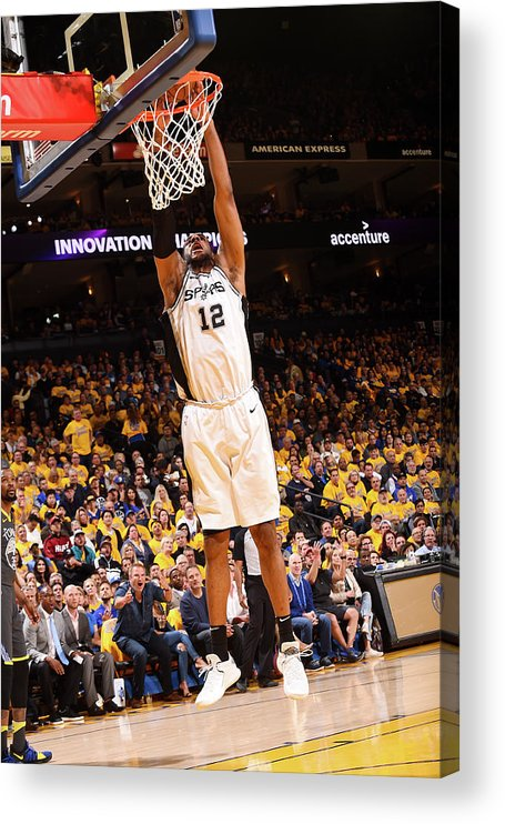 Playoffs Acrylic Print featuring the photograph Lamarcus Aldridge by Noah Graham