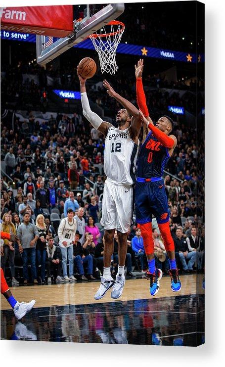 Nba Pro Basketball Acrylic Print featuring the photograph Lamarcus Aldridge by Zach Beeker