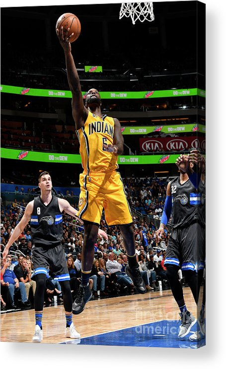 Nba Pro Basketball Acrylic Print featuring the photograph Lance Stephenson by Fernando Medina