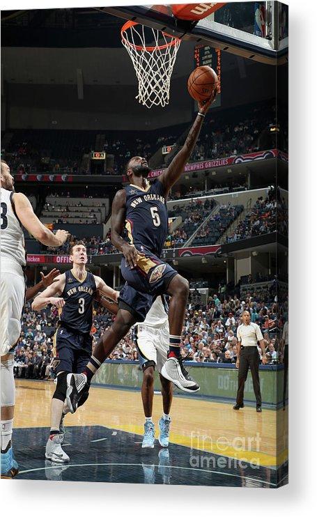 Nba Pro Basketball Acrylic Print featuring the photograph Lance Stephenson by Joe Murphy