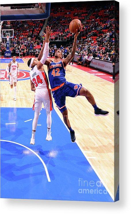 Nba Pro Basketball Acrylic Print featuring the photograph Lance Thomas by Chris Schwegler