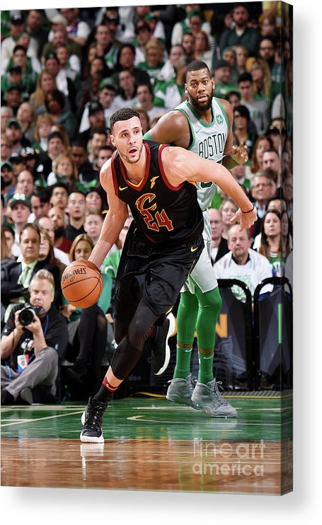Nba Pro Basketball Acrylic Print featuring the photograph Larry Nance by Brian Babineau