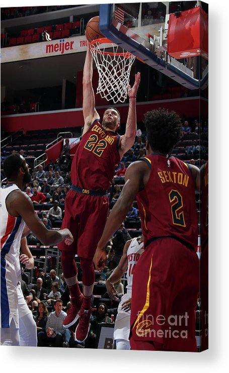 Nba Pro Basketball Acrylic Print featuring the photograph Larry Nance by Brian Sevald