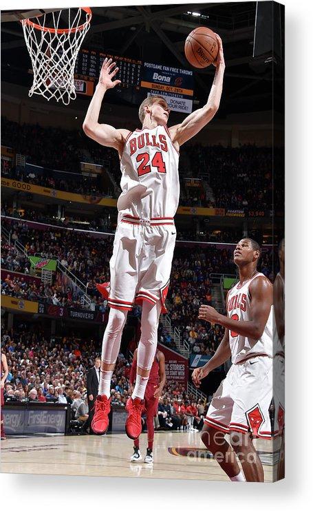 Chicago Bulls Acrylic Print featuring the photograph Lauri Markkanen by David Liam Kyle