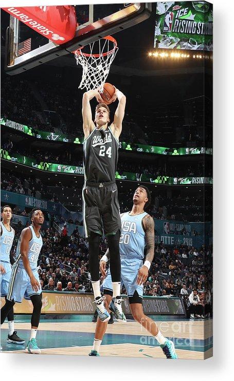 Nba Pro Basketball Acrylic Print featuring the photograph Lauri Markkanen by Nathaniel S. Butler