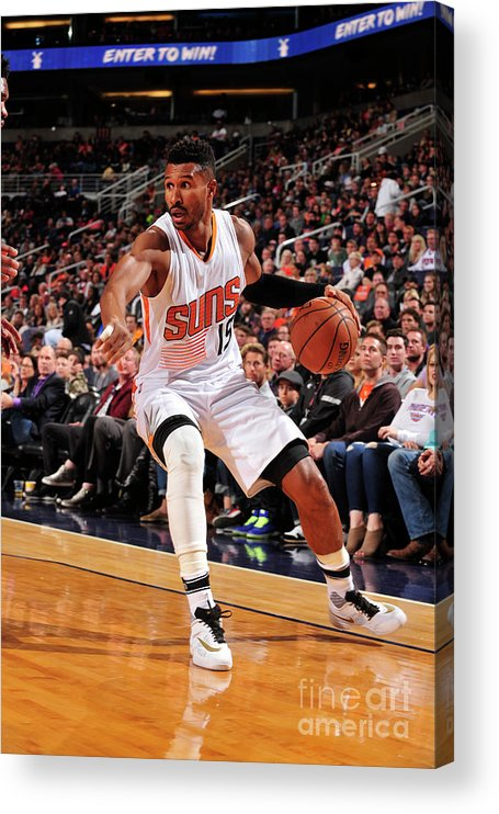 Nba Pro Basketball Acrylic Print featuring the photograph Leandro Barbosa by Barry Gossage