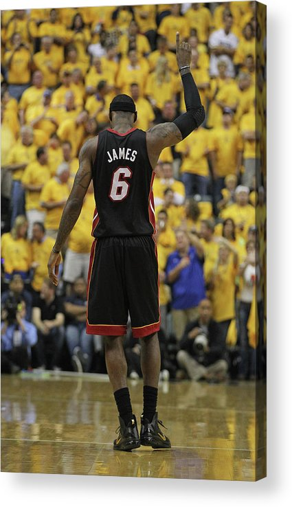 Playoffs Acrylic Print featuring the photograph Lebron James by Jonathan Daniel