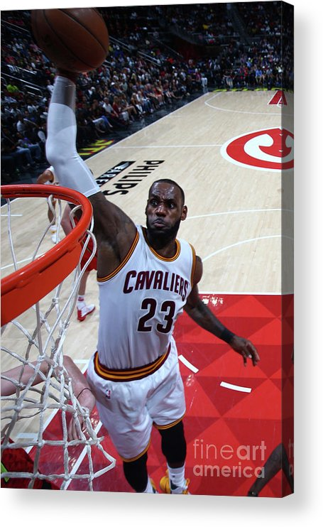 Atlanta Acrylic Print featuring the photograph Lebron James by Kevin Liles