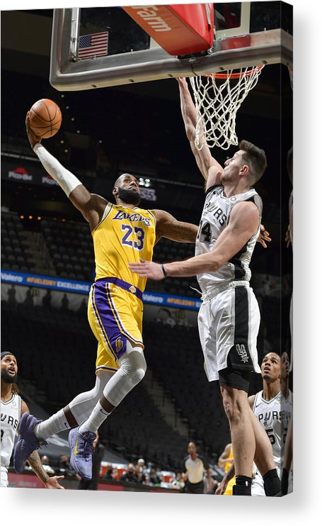 Nba Pro Basketball Acrylic Print featuring the photograph Lebron James by Logan Riely