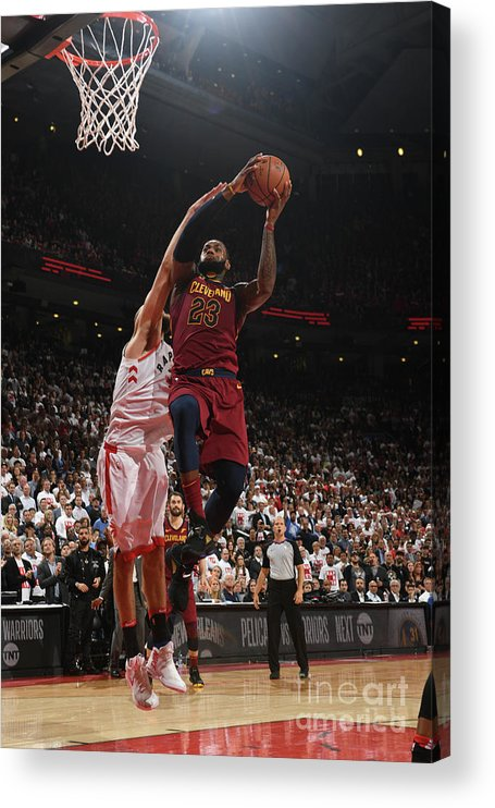 Playoffs Acrylic Print featuring the photograph Lebron James by Ron Turenne