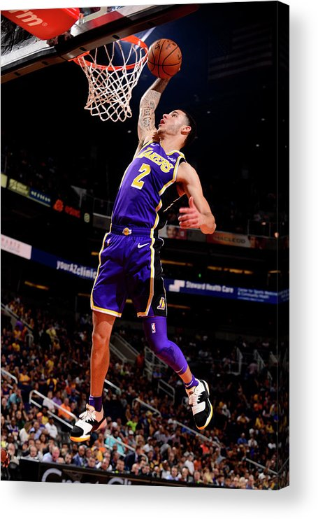 Nba Pro Basketball Acrylic Print featuring the photograph Lonzo Ball by Barry Gossage