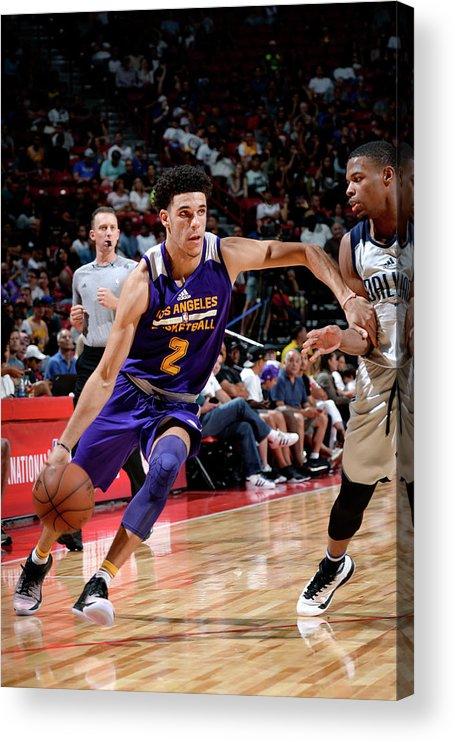 Nba Pro Basketball Acrylic Print featuring the photograph Lonzo Ball by David Dow