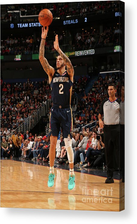 Smoothie King Center Acrylic Print featuring the photograph Lonzo Ball by Layne Murdoch Jr.