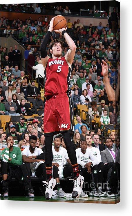 Nba Pro Basketball Acrylic Print featuring the photograph Luke Babbitt by Brian Babineau