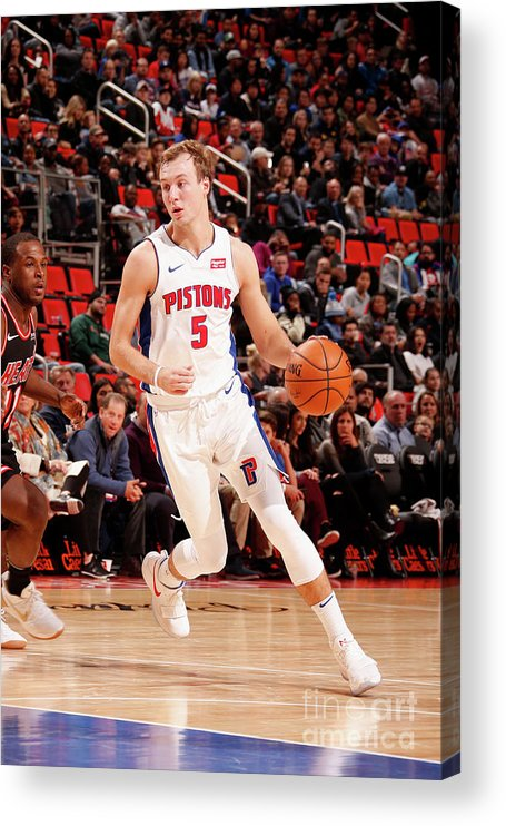 Nba Pro Basketball Acrylic Print featuring the photograph Luke Kennard by Brian Sevald