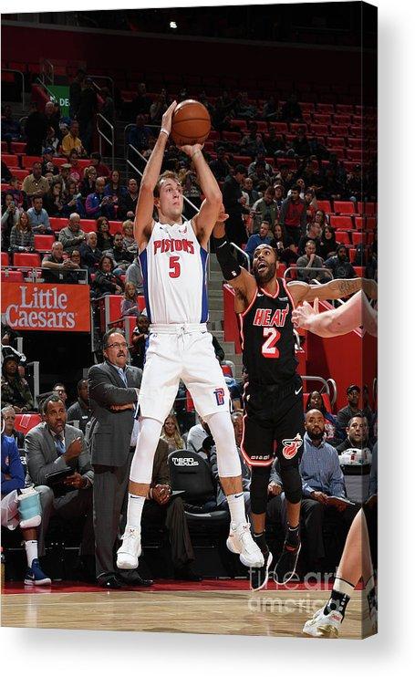 Nba Pro Basketball Acrylic Print featuring the photograph Luke Kennard by Chris Schwegler