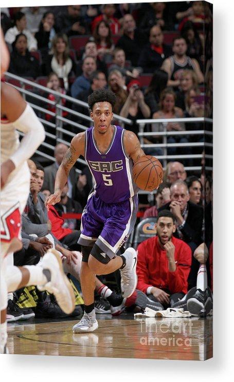 Nba Pro Basketball Acrylic Print featuring the photograph Malachi Richardson by Gary Dineen