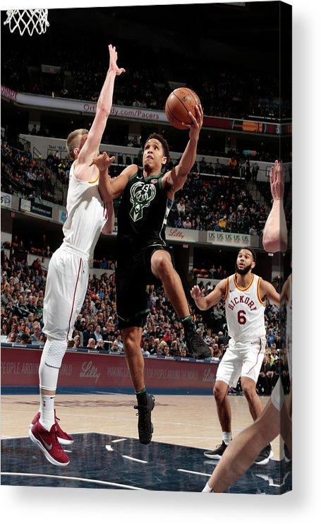Nba Pro Basketball Acrylic Print featuring the photograph Malcolm Brogdon by Ron Hoskins