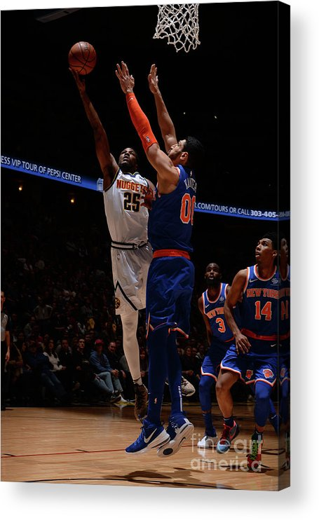 Nba Pro Basketball Acrylic Print featuring the photograph Malik Beasley by Bart Young