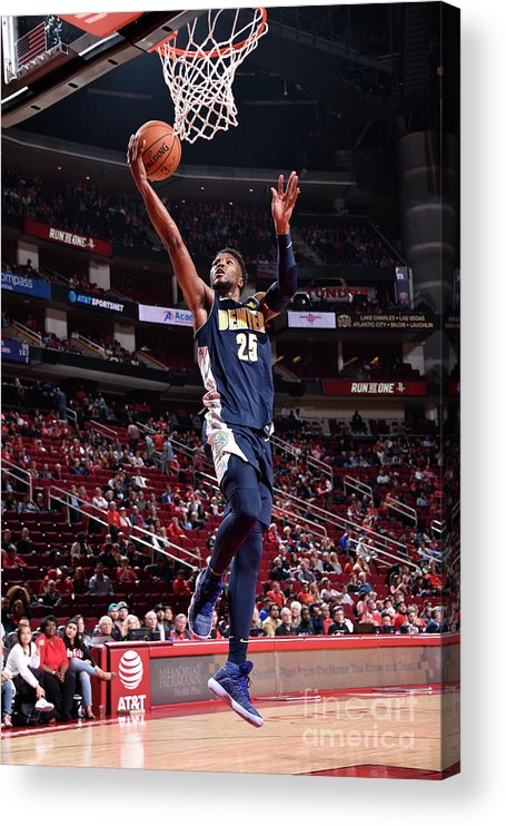 Nba Pro Basketball Acrylic Print featuring the photograph Malik Beasley by Bill Baptist