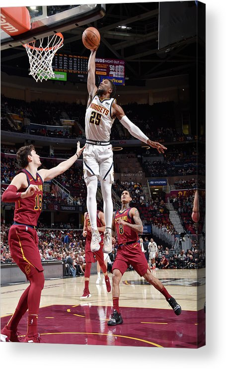 Nba Pro Basketball Acrylic Print featuring the photograph Malik Beasley by David Liam Kyle