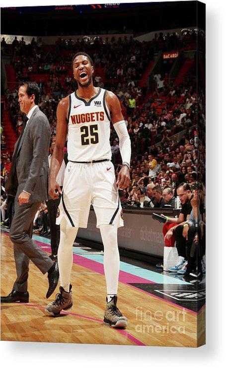 Nba Pro Basketball Acrylic Print featuring the photograph Malik Beasley by Issac Baldizon